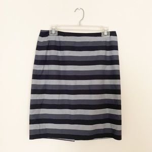 Halogen Gray Striped Pencil Skirt Size 6